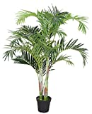 AMERIQUE Gorgeous 6' Tropical Palm Tree Artificial Silk Plant, with Nursery Plastic Pot, Feel Real Super Quality, Green