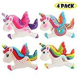 Vigeiya 4 Pack Squishies Unicorns Slow Rising Jumbo Rainbow Unicorns Prime Kawaii Colorful Toys