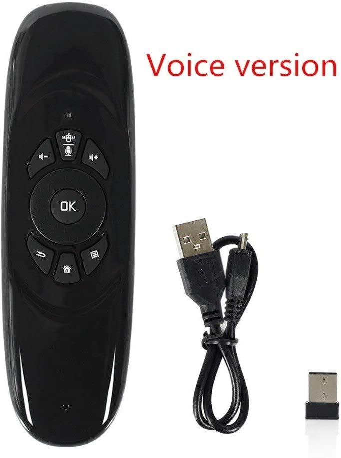 Color: Standard version Calvas 2.4G Mini Wireless Keyboard Gyroscope Air Fly Mouse Universal Remote Control With USB Receiver For Android TV Box Smart TV