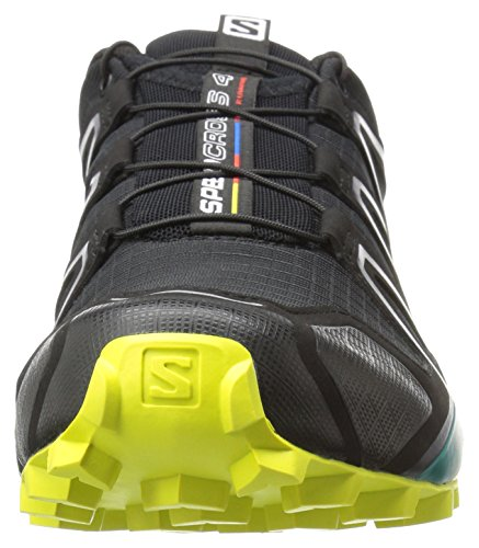 Mens Salomon Speedcross 4 Trail Runner Nero / Everglade / Zolfo