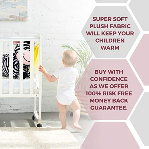 """SNUGGIES Zebra Stuffed Animal Blanket & Cuddly Pillow 2-in-1 Combo – Super Soft and Cuddly Baby Zebra Blanket 37"""" x 30"""" and Zoo Plush Toy 14"""" x 8"""" – Perfect Unisex Baby Shower Gift by Snuggies (Image #5)"""