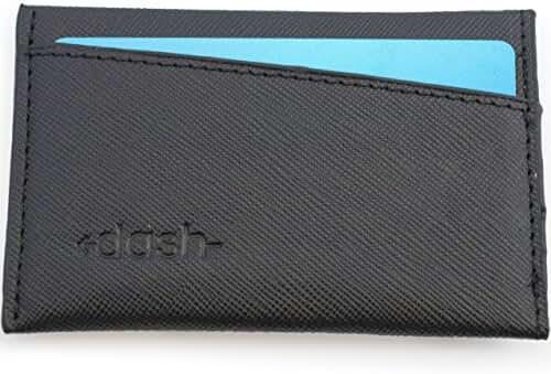 DASH Co. Premium Slim Wallet For Men - Compact Front Pocket Design - Cash Holder - Durable Eco Leather - Lightweight Leather Men Wallet