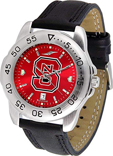 NCAA North Carolina State Wolfpack Ladies Game Day Sport AnoChrome Leather Watch