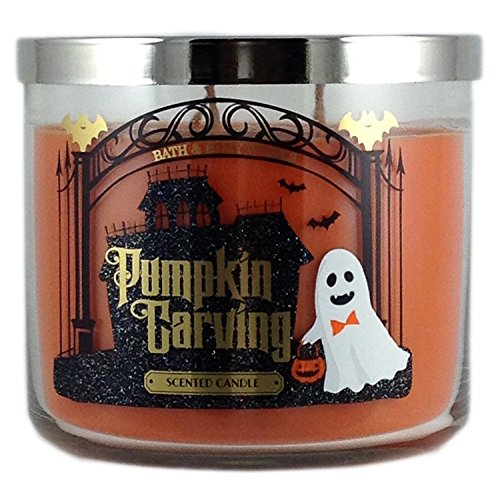 Bath & Body Works 3 Wick Candle 14.5 Oz Pumpkin Carving -