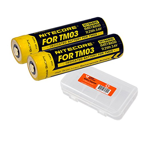 Nitecore Two TM03 Rechargeable Batteries NI18650D Plus LumenTac Battery Organizer