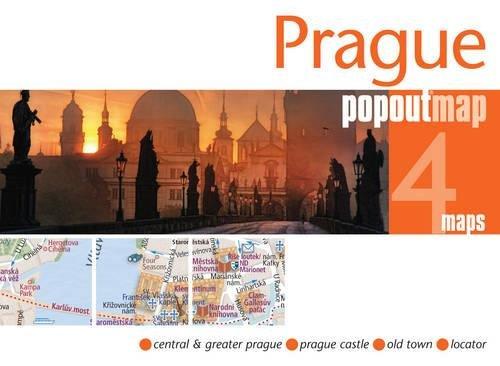 Prague PopOut Map, 4 maps (Popout Maps)