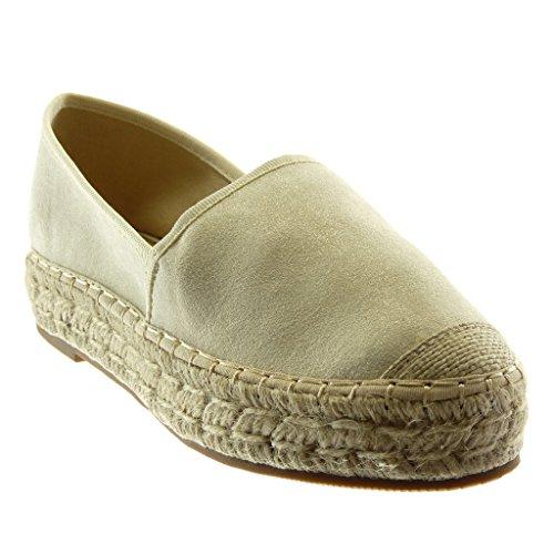 b2b80a864 Angkorly Women's Fashion Shoes Espadrilles - Slip-on - Soft - Platform -  Cord - Braided - Finish Topstitching Seams Wedge Platform 3.5 cm