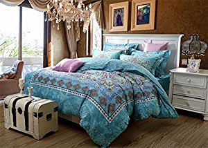 NEWRARA Home Textile,boho Bedding Set,bohemia Exotic Bedding Set,bedspread,chinese Bedding Set,4pcs,queen