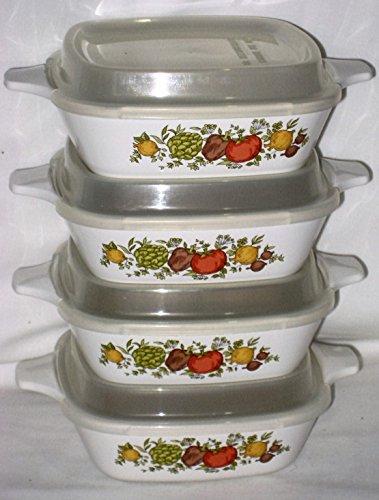 [Corning Spice O' Life 1 3/4 Cup Individual Casserole Baking Dishes w/ Plastic Lids, 8 Piece Set] (Corelle Pyrex Casserole)
