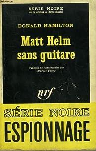 Matt Helm sans guitare  par Donald Hamilton