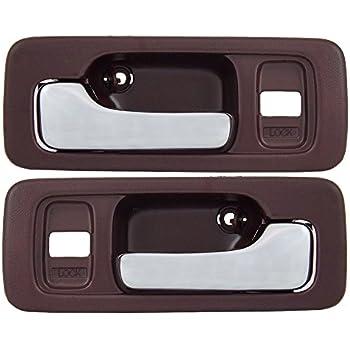 2-Door Coupe Glassy Gray Passenger Side Dark Gray Inside Interior Inner Door Handle Housing with Chrome Lever PT Auto Warehouse HO-2240MH-FR