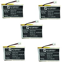 Synergy Digital Cordless Phone Batteries - Replacement for Plantronics 202599-03, 64327-01, 64399-01, 64399-03, 65358-01, PL-64399-01 Cordless Phone Batteries (Set of 5)