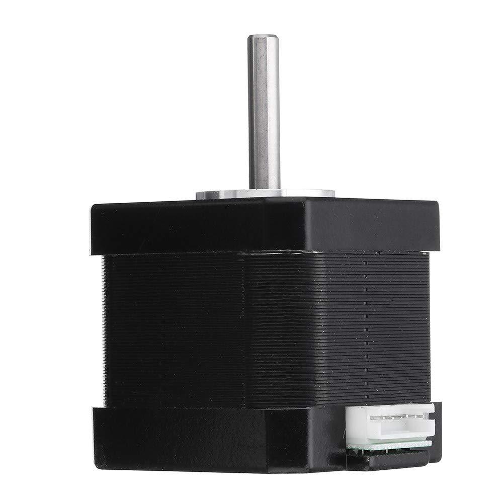 Pannow 17HS4401-S Moteur pas /à pas Nema 17 42 Moteur 42 Moteur 42 Moteur 1,7 A 40 N.cm 4 plombs pour imprimante 3D Laser CNC