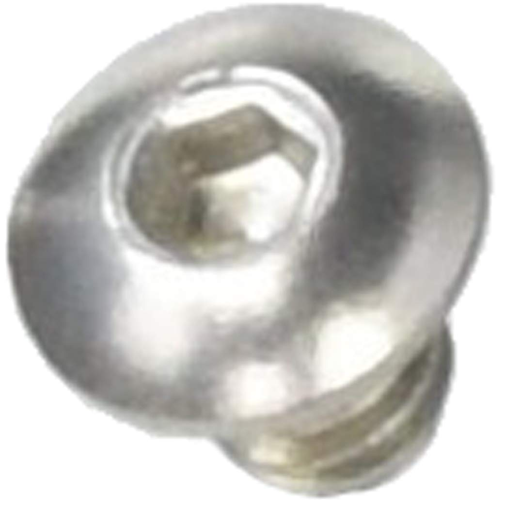 5//16 Long 6-32 Thread Size 18-8 Stainless Steel Hex Drive Rounded Head Screw
