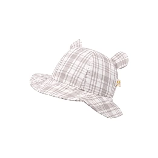 6495e110a4b XIAOHAWANG Baby Sun Protection Hat Boys Girls Adjustable Uv Protective Cap  with Wide Brim (Gray