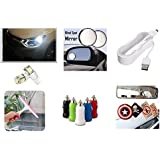 Lowrence Car 1 Pc Hanging Paper Perfume+1Pc Wiper+1 Pair Spot Mirror+1 Pair Parking Led+1 Samung Charger+1 Single USB Port