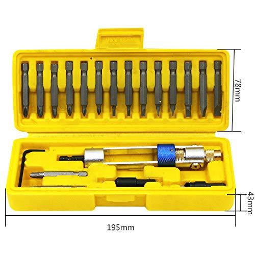 Doolland juego de herramientas de reparaci/ón port/átil Juego de 20 puntas de destornillador multifunci/ón