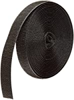 "VELCRO 1002-AP-PB/H Black Nylon Woven Fastening Tape, Standard Back Sew-On Hook Only, 5/8"" Wide, 15 ' Length"