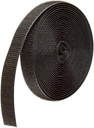 15 Length Standard Back Sew-On Loop Only VELCRO 1005-AP-PB//L Black Nylon Woven Fastening Tape 1-1//2 Wide