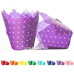 Tulip Cupcake Liners (Polka Violet) | 100 count