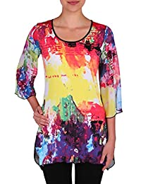 Nygard Women's Plus Size Slims Bell Sleeve Tunic Splash