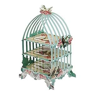 Talking Tables US_PRL-BIRDCAGE - Bandeja para tartas, Altura 46cm, color rojo
