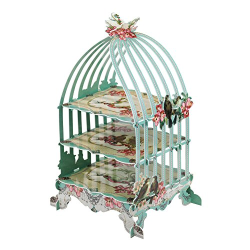Talking Tables Bake Off Birdcage Cakestand for a Tea Party, Wedding, Mint ()
