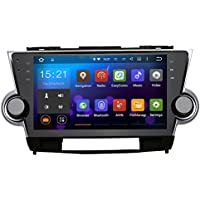 SYGAV Android 5.1.1 Lollipop Car Stereo Video Player for Toyota Highlander 2009-2012 Quad Core 10.2 Inch In-dash 2 Din 1024x600 GPS Nav Sat with Wifi Bluetooth Radio