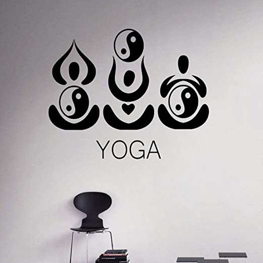 guijiumai Tatuajes de Pared Indio Yoga Pegatinas de Pared ...
