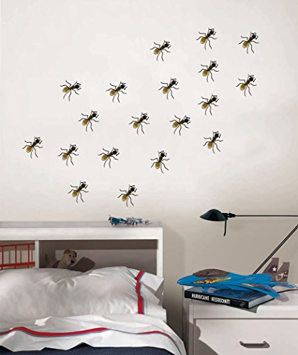 - Ants on the Wall - Fun Bugs Design for Kids Room - Peel and Stick Wall Decal - 28