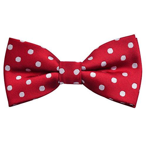 Boys Adjustable Pre Tied Wedding Party Tuxedo Bow Tie, Wine Red