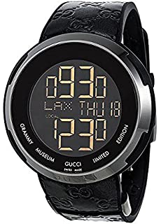 Gucci I-Gucci Leather Digital Grammy Museum Limited Edition Watch YA114101