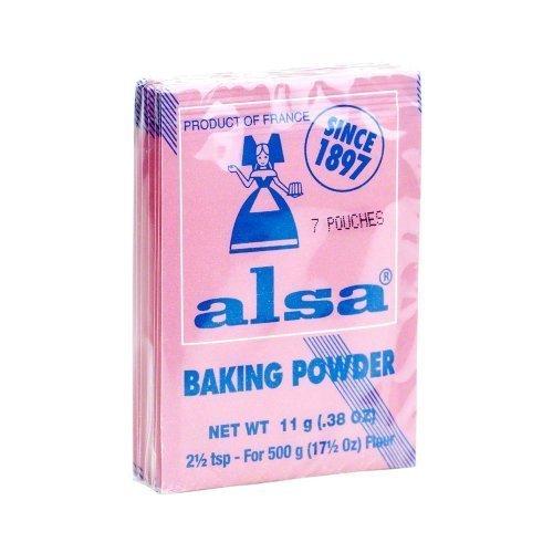 French Baking Powder Alsa 7 pouches(0.38 oz) by Alsa by Alsa