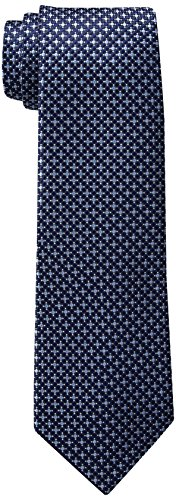 Tommy Hilfiger Men's Navy Ties, Micro Navy II, One Size