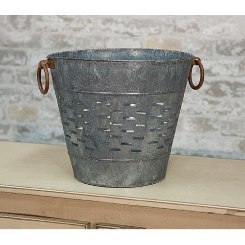 Heart of America 10.5'' Galvanized Olive Bucket