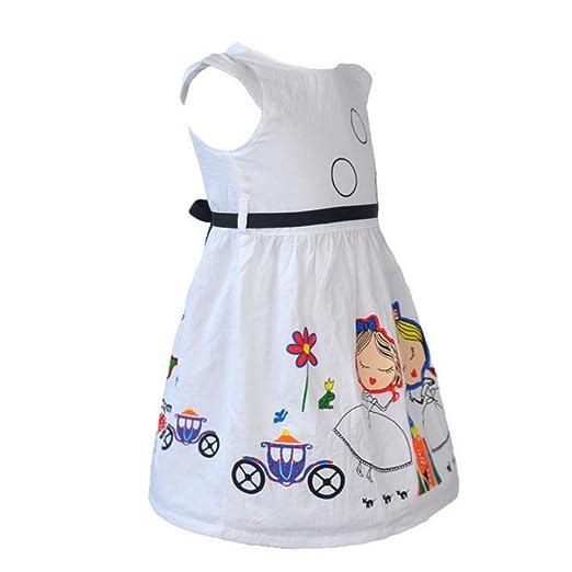 💜 Vestido de Dibujos Animados para Niñas, Ropa de Niñas Lindo Vestido Blanco de Dibujos Animados para la Princesa Vestido de Niña Absolute: Amazon.es: Ropa ...