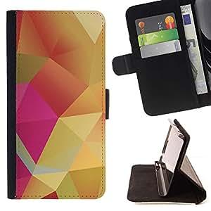 For LG G2 D800 Case , Rosa Pastel oro amarillo- la tarjeta de Crédito Slots PU Funda de cuero Monedero caso cubierta de piel