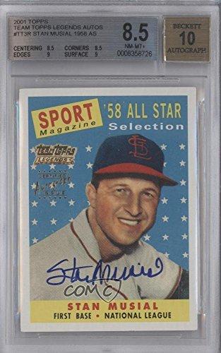 - Stan Musial Graded BGS 8.5 NM-MT+ (Baseball Card) 2002 Topps - Team Topps Legends Autographs #TT-SM