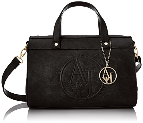 24e6197ba3df Armani Jeans Bauletto In Faux Leather with Pendant Top Handle Bag ...