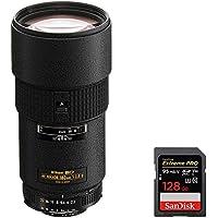 Nikon (1940) 180mm f/2.8D ED-IF AF Nikkor Lens for Nikon Digital SLR Cameras with Sandisk Extreme PRO SDXC 128GB UHS-1 Memory Card