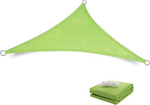 Tuosite Terylene Waterproof Sun Shade Sail UV Blocker Sunshade Patio Equilateral Triangle Knitted 220 GSM Block Fabric Pergola Carport Awning 21' x 21' x 21'