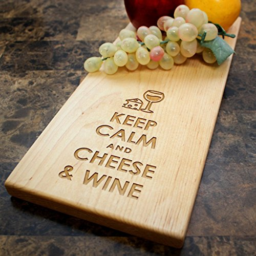 Premium Wine and Cheese Maple Cutting Board Gift Set in Elegant Wrapping for Wine Lovers. Unique Wedding or Anniversary Gift – Cool Funny Present Idea…