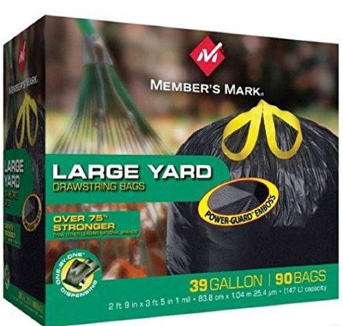 [Member's Mark Convenient drawstring closure Power-Guard Yard Drawstring Garbage Trash Bags ,39 Gallon (90] (Recycle Bin Costume)
