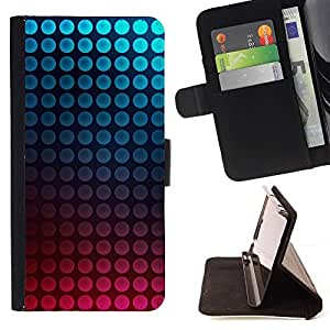 Momo Phone Case / Flip Funda de Cuero Case Cover - Dot vibrantes del trullo Burbujas rosadas - Samsung Galaxy E5 E500