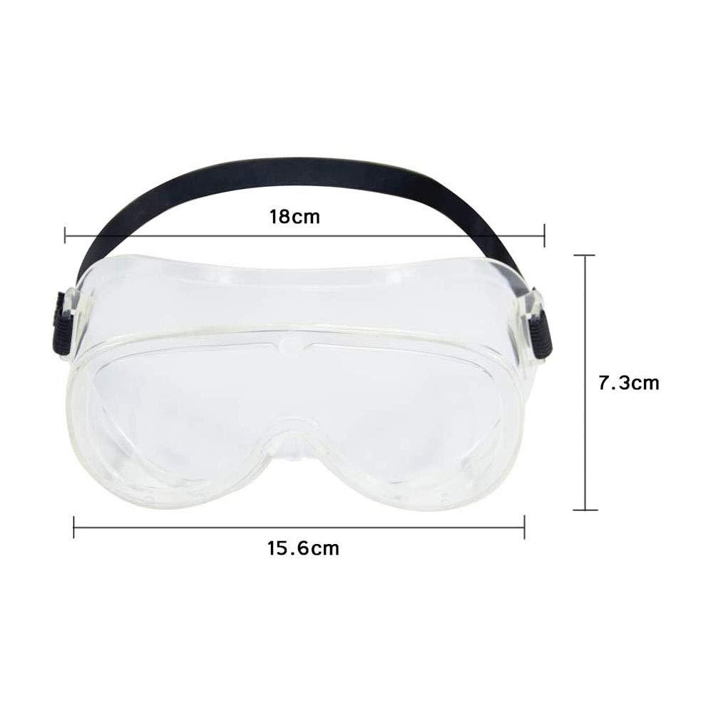 sin respiraderos Gafas de seguridad Gafas de seguridad m/édica Anti-vaho OTG Qu/ímica protectora Laboratorio Protecci/ón de los ojos Gafas contra salpicaduras de l/íquidos qu/ímicos banda el/ástica Unisex