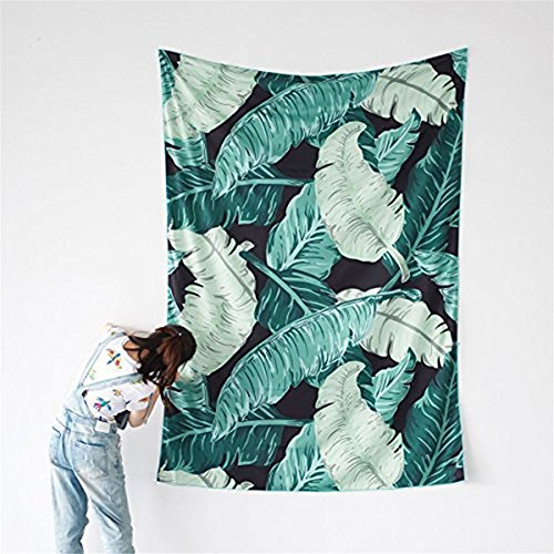 Banana Leaf Wall Tapestry, Palm Leaf Wall Hangings Art Dorm Shawl Beach Towel Throw Tapestry Decor Bedspread Bedroom Living Kids Girls Boys Room Dorm Accessories 78x57inchs