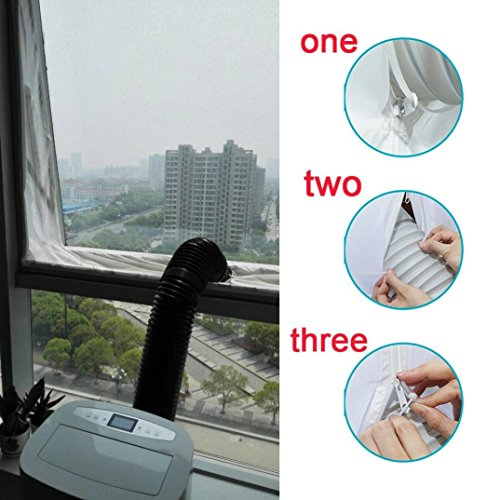 Sunshinehomely Airlock Window Door Sealing For Mobile Air Conditioners Units And Exhaust Air Dryers, Air Conditioning Soft Cloth Sealing Baffle (White) by Sunshinehomely