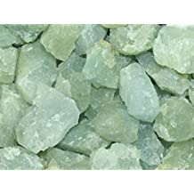 Zentron Crystal Collection: 1 Pound Natural Rough Aquamarine Stones with Velvet Bag