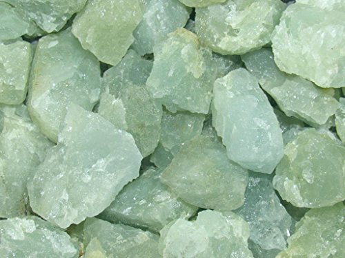UPC 611138637039, Zentron Crystal Collection: 1/2 Pound Natural Rough Aquamarine Stones with Velvet Bag Large Natural Rough Bulk Raw Stones for Tumbling, Wire Wrapping, Polishing, Wicca and Reiki
