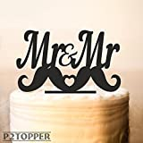 Mr and Mr Cake Topper,Gay Wedding Cake Topper,Mr and Mr Gay,Contemporary,mustache Cake Topper,Gay party,same sex cake topper?